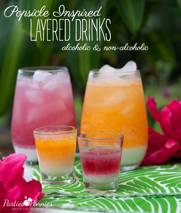 How to make layered drinks parties for pennies for How to make non alcoholic drinks