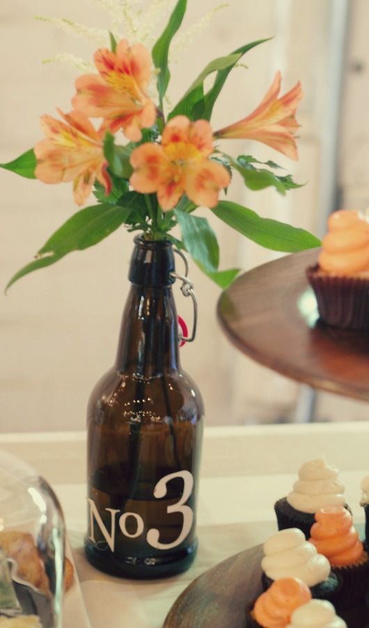 Brewery Baby Shower | PartiesforPennies.com | #babyshower #vintagepreppy #brewery #navy #peach #pink