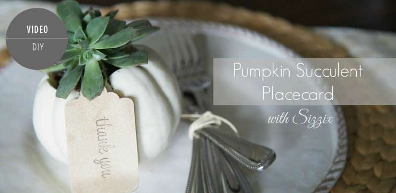 Pumpkin Placecard and Favor | PartiesforPennies.com | #succulentplanter #pumpkin #fall #entertaining #placecard #favor