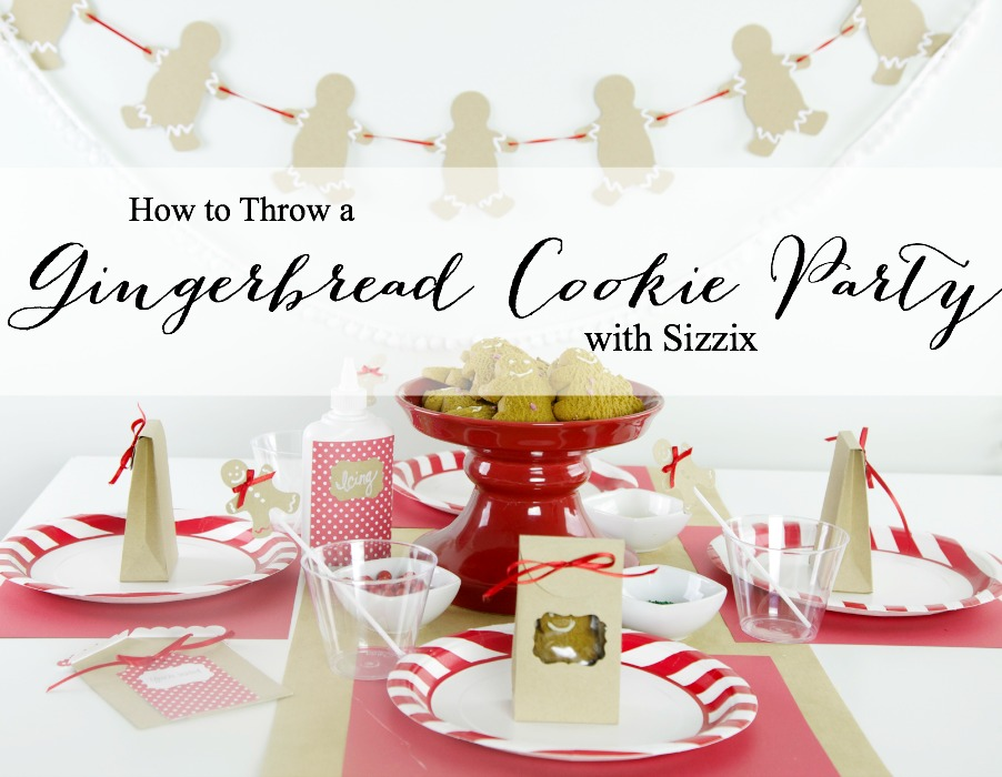 Gingerbread Cookie Party | PartiesforPennies.com | #Sizzix #Christmas #holiday