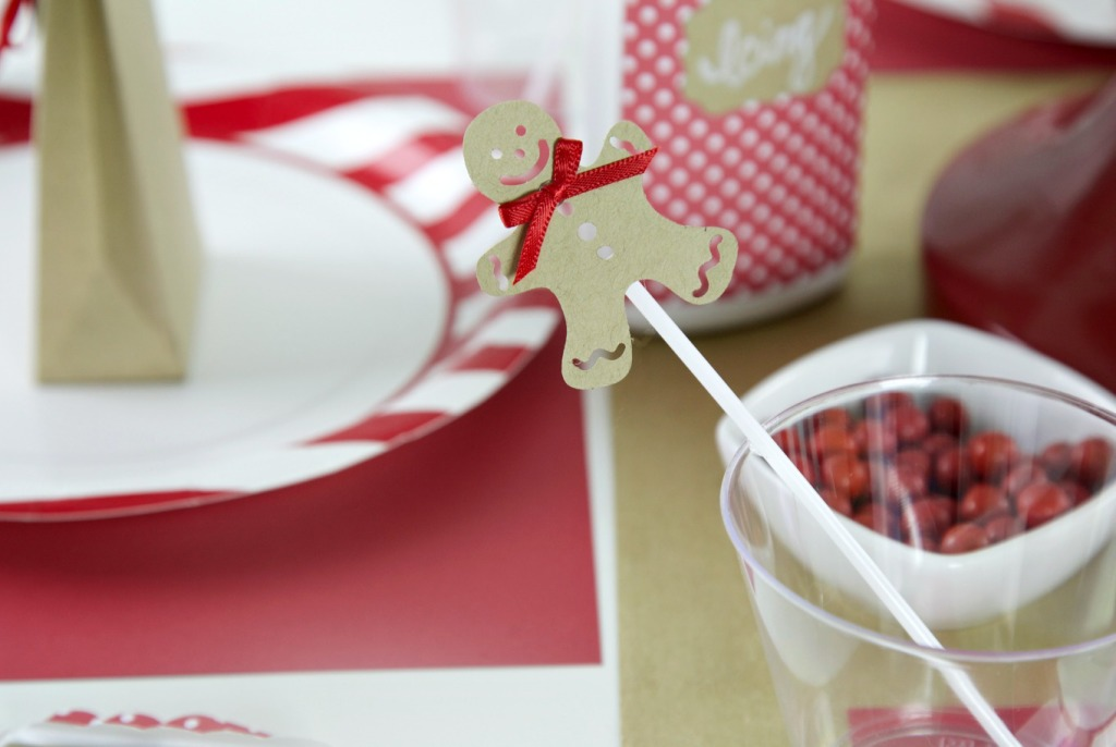 Gingerbread Cookie Party |Decorations | PartiesforPennies.com | #Sizzix #Christmas #holiday