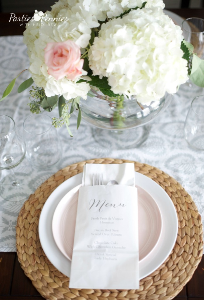 How to Make Paper Bag Menus | PartiesforPennies.com | #partyplanning #dinnerparty #entertaining #diy