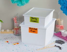 Party Supply Organization Ideas | PartiesforPennies.com | #organization #organizing #partysupplies