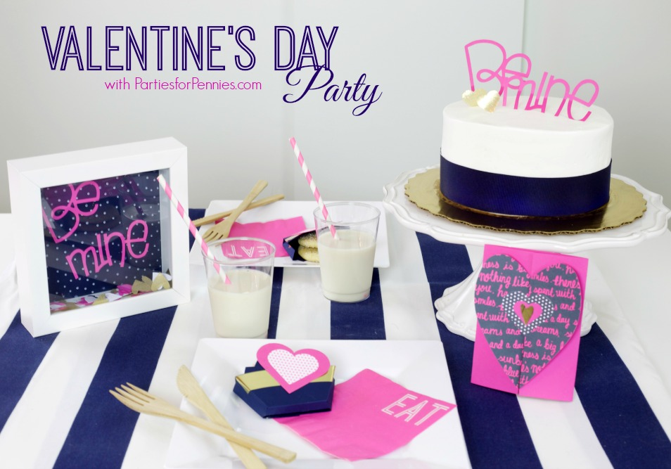 Valentines Day Party | PartiesforPennies.com | #valentinesday #valentine #party