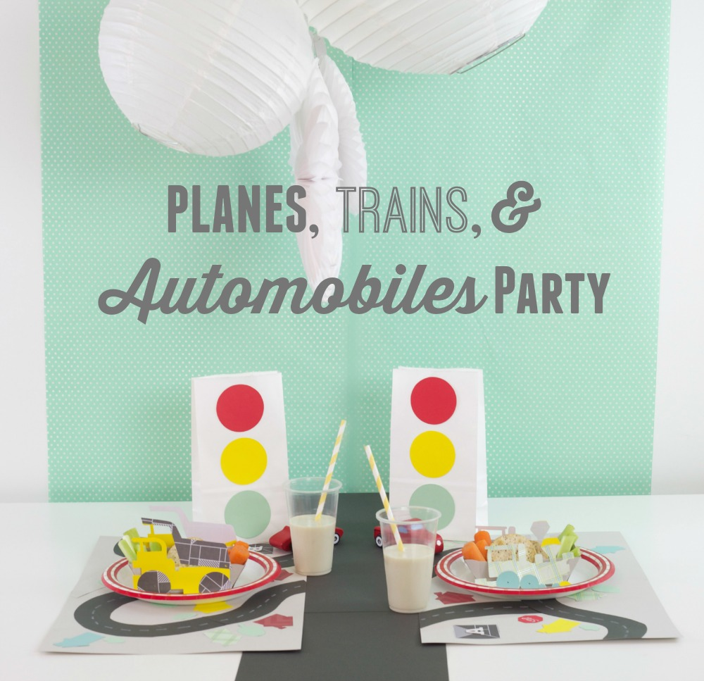 Planes, Trains, & Automobiles Party | PartiesforPennies.com | #transportationparty #kidsparty #kidsbirthday #boysbirthday