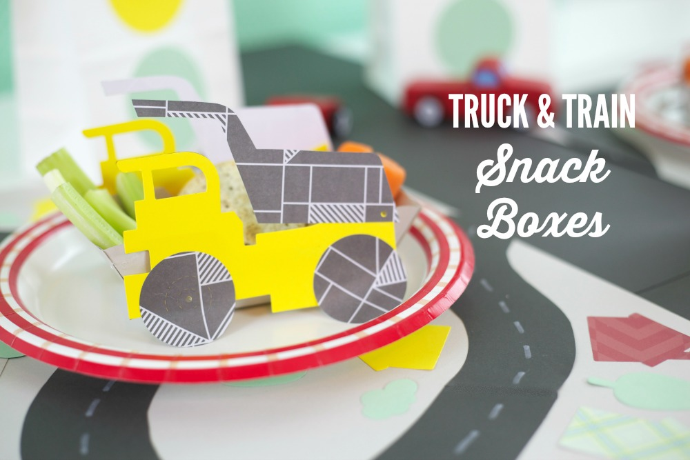 Planes, Trains, & Automobiles Party | PartiesforPennies.com | #transportationparty #kidsparty #kidsbirthday #boysbirthday #papersnackboxes #partyfood