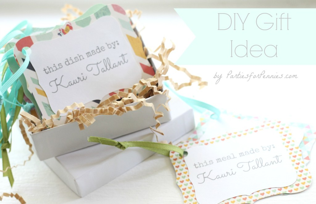 DIY Gift Tag Idea for your Foodie Friend | PartiesforPennies.com | #diy #paper #gifttag #foodie #gift #homemade