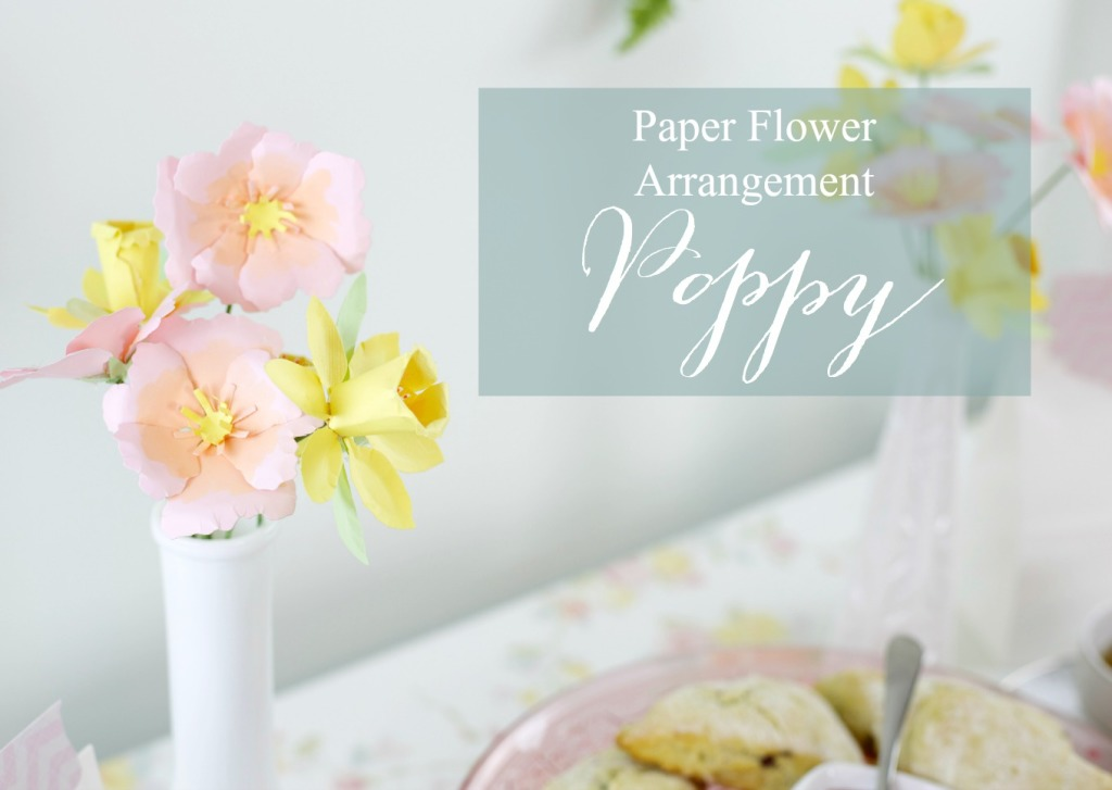 How to Throw a Tea Party with Sizzix | How to make a Poppy Paper Flower