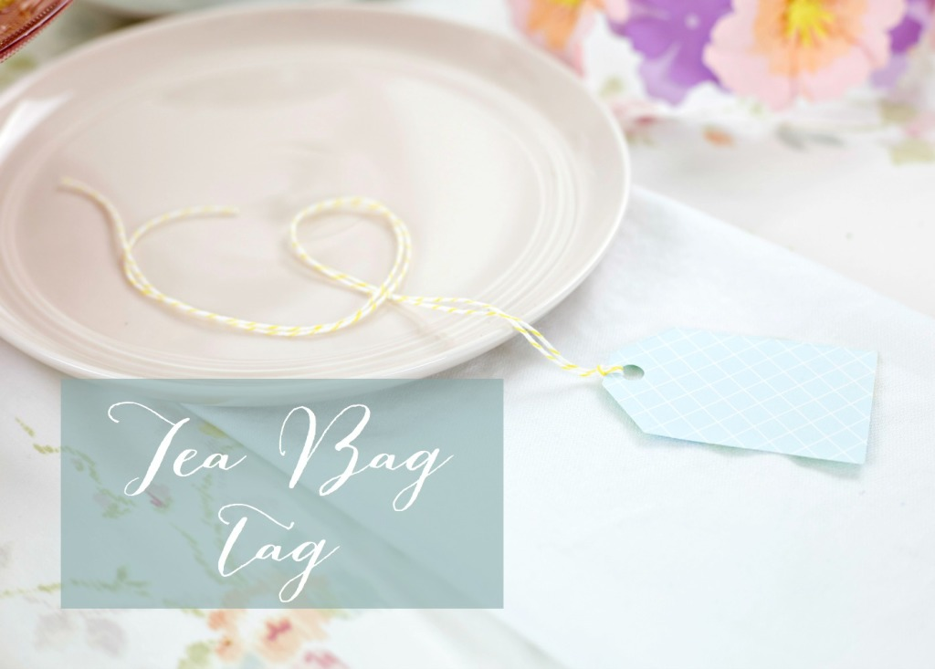 How to Throw a Tea Party with Sizzix | Tea Bag Tag and Place Card