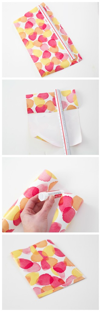 DIY Party Favor Bags by PartiesforPennies.com | Using wrapping paper #diy #treatbags #paper