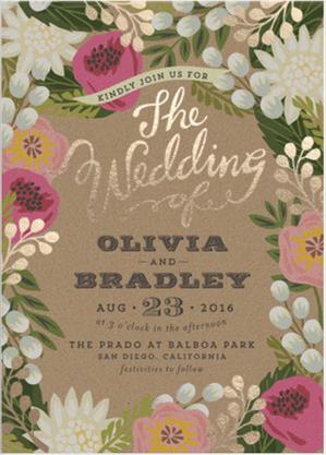 Wedding Invitations by Minted.com | PartiesforPennies.com | #weddinginvitations