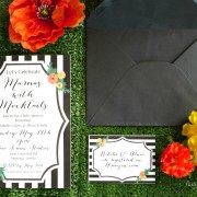 Black White and Citrus Baby Shower | PartiesforPennies.com | Mamas & Mocktails