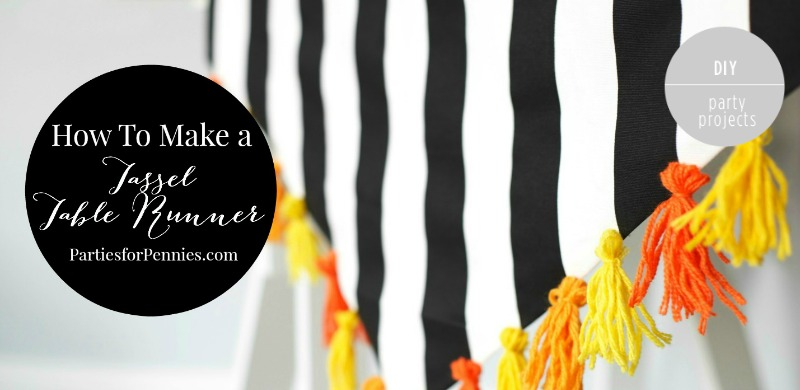 DIY Tassel Table Runner - Feature