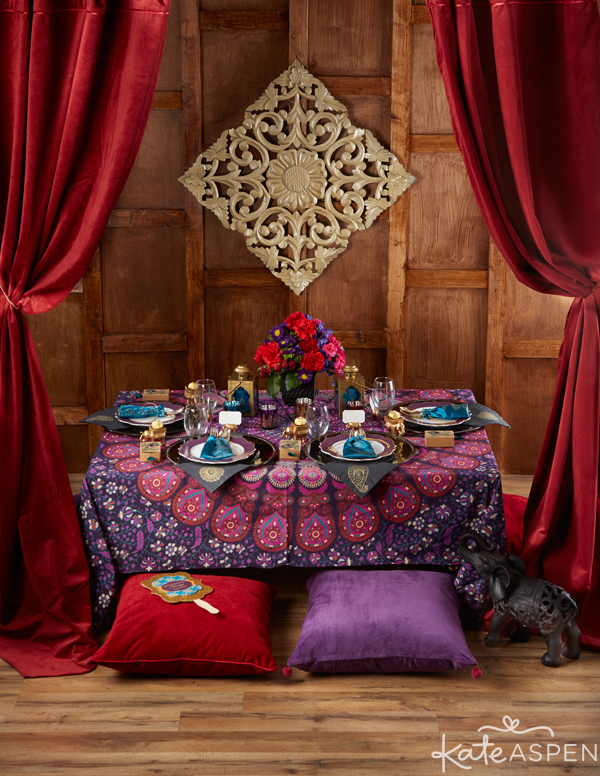 Jewel Toned Indian Wedding | Purple, Red, Gold | PartiesforPennies.com