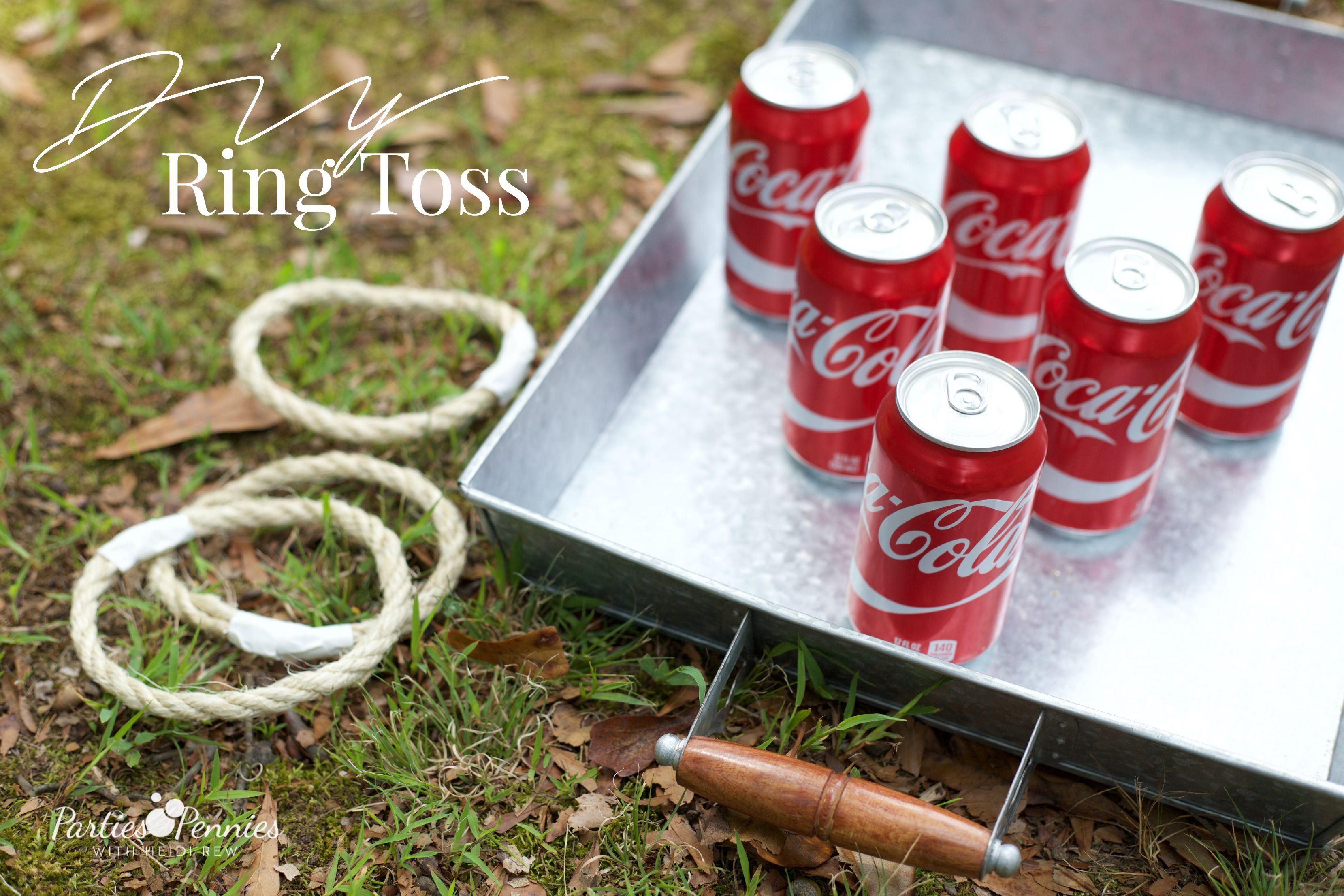 Coca-Cola Fall Football Sam's Club | How to Throw a Tailgate Party | DIY Ring Toss |PartiesforPennies.com | #tailgate #floridagators #universityofflorida #shareyourspirit