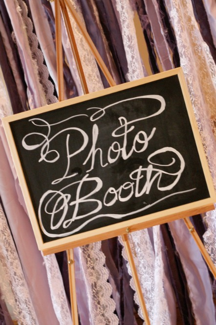 Ribbon Photo Booth Backdrop | Purple & Green Wedding - PartiesforPennies.com