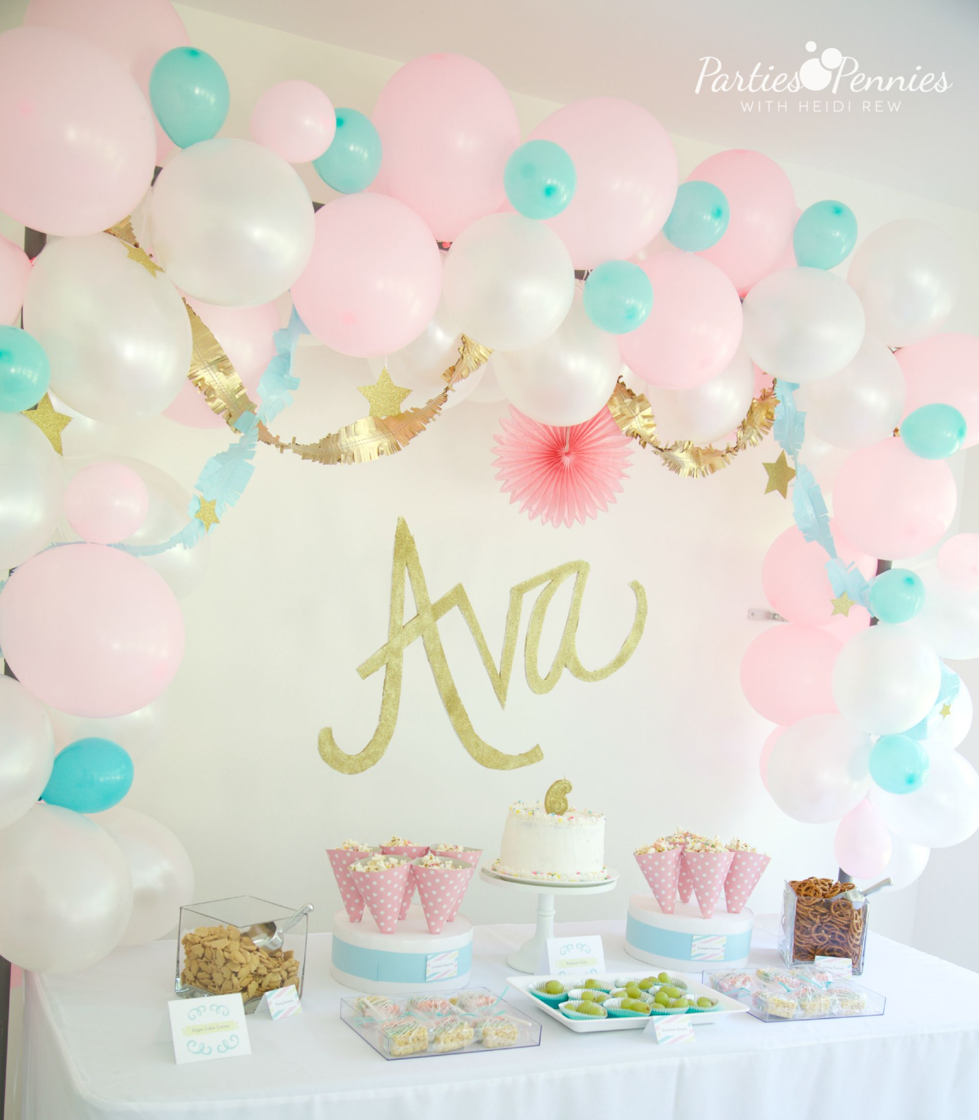 Diy photo backdrop parties for pennies for Backdrop decoration for birthday