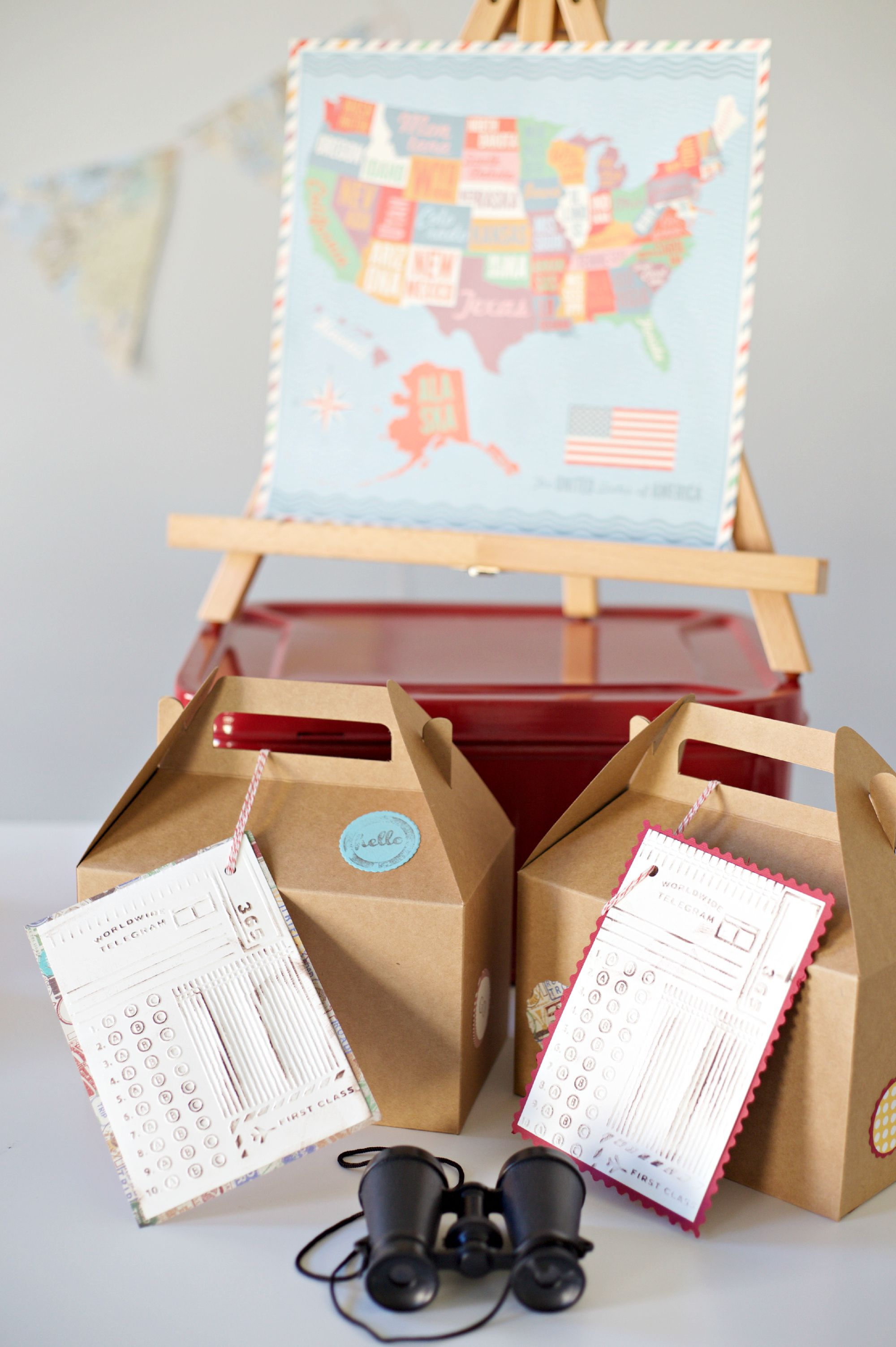 Passport Party | Travel Themed Party |Lunchboxes |  PartiesforPennies.com | #Sizzix #videotutorial #travel