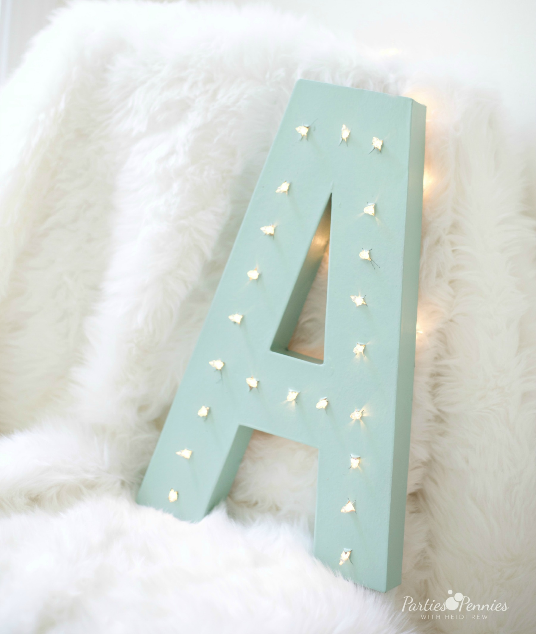 PONY PARTY - DIY Marquee Letter | PartiesforPennies.com | My Little Pony | Pinkie Pie | Girl Birthday Party