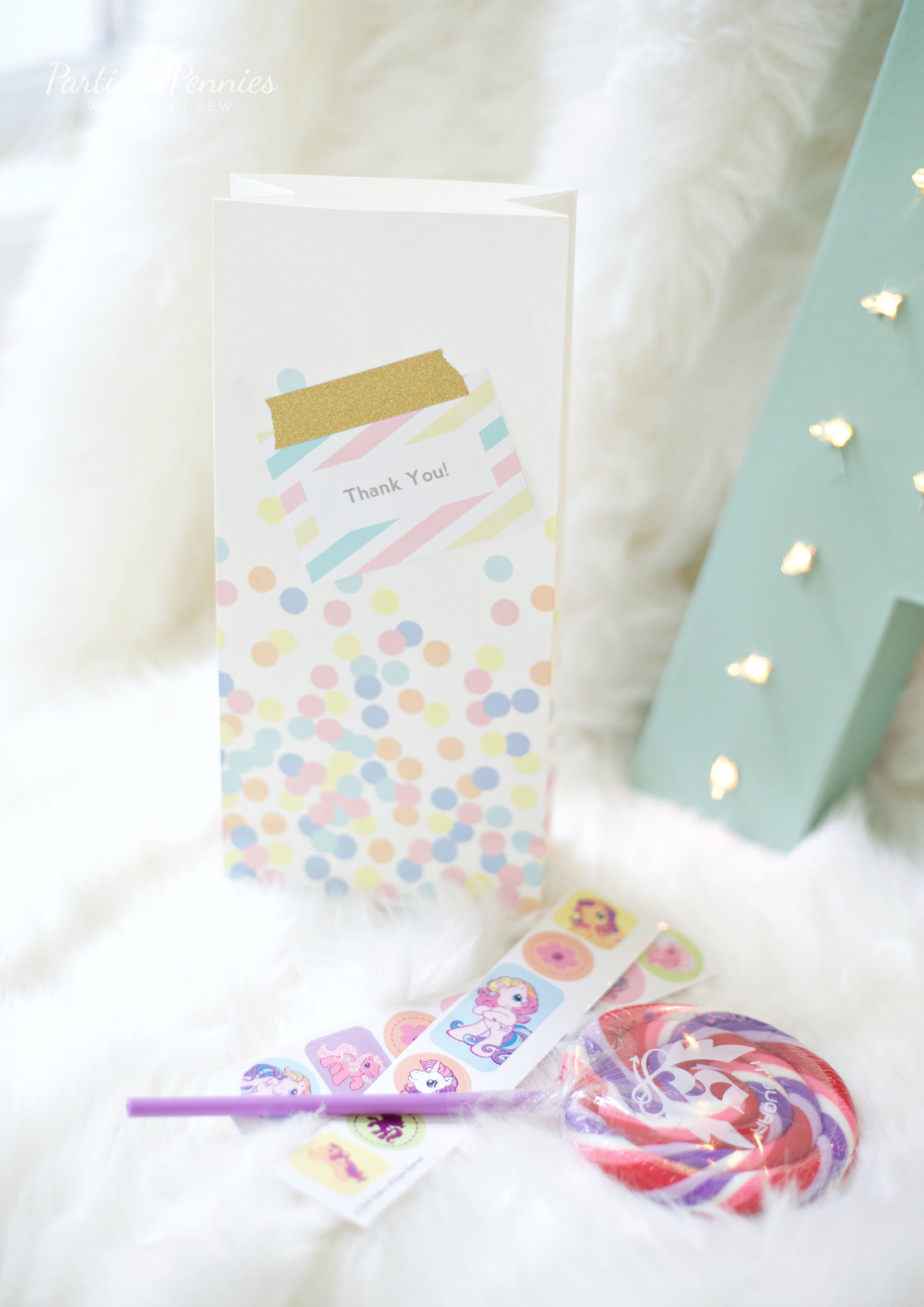 PONY PARTY - Party Favor Bags | PartiesforPennies.com | My Little Pony | Pinkie Pie | Girl Birthday Party