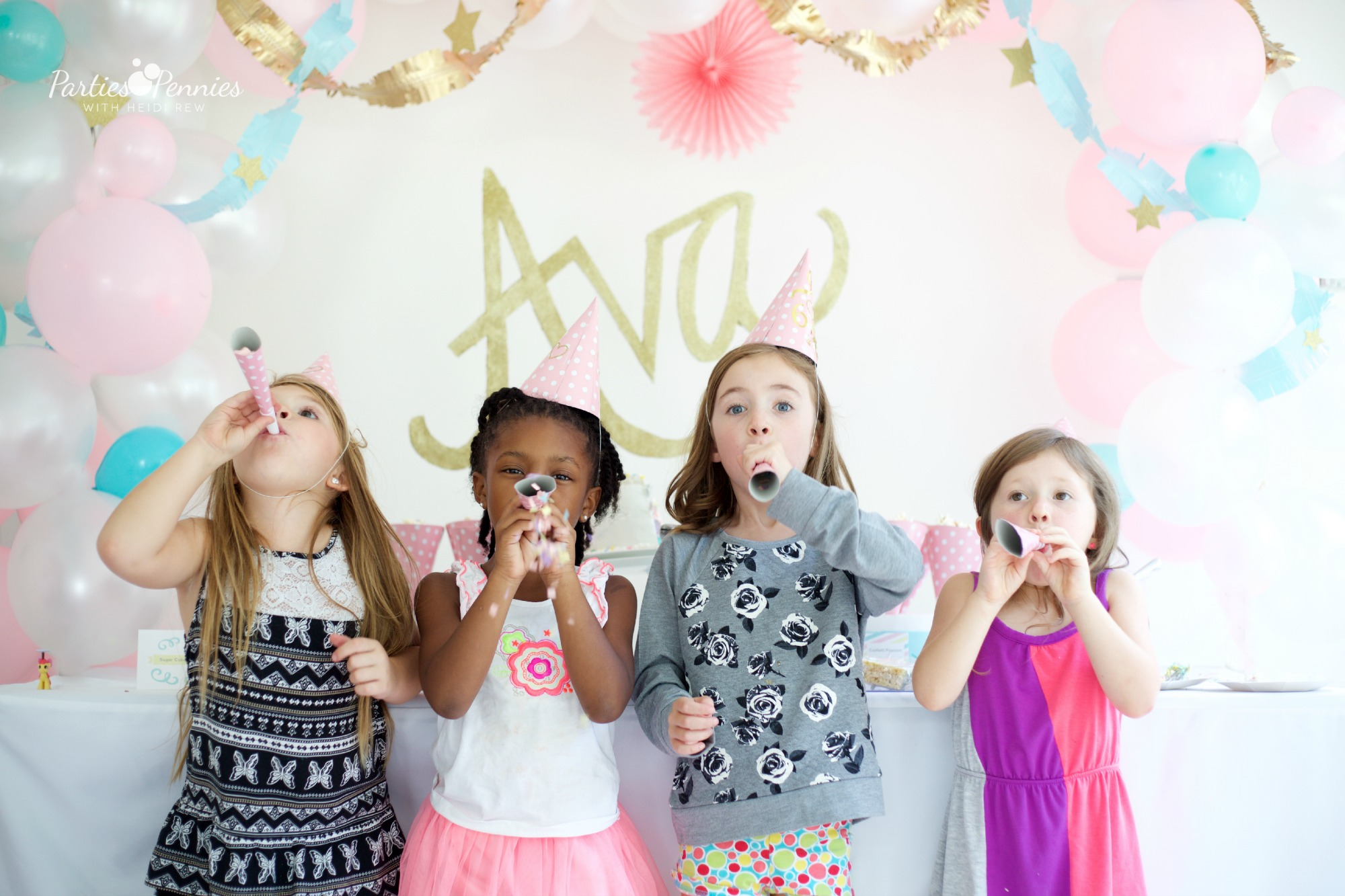 How to throw a PONY PARTY | PartiesforPennies.com | My Little Pony | Pinkie Pie | Girl Birthday Party