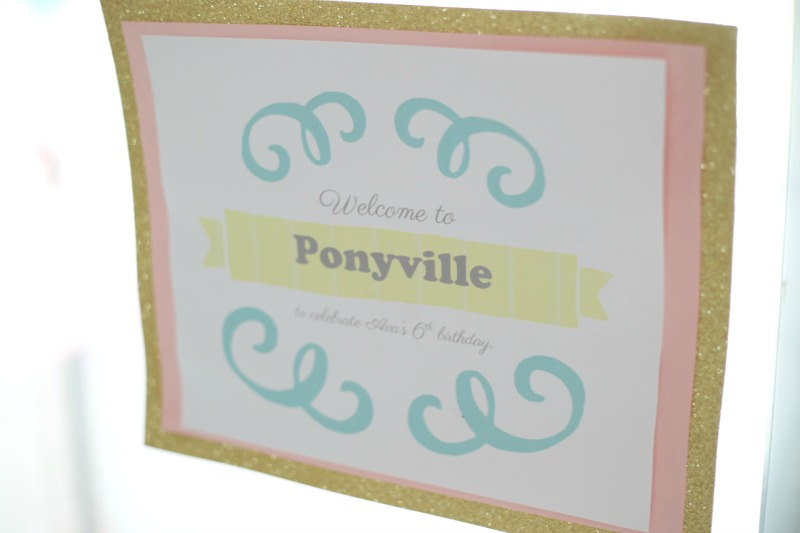 PONY PARTY - Ponyville Sign | PartiesforPennies.com | My Little Pony | Pinkie Pie | Girl Birthday Party