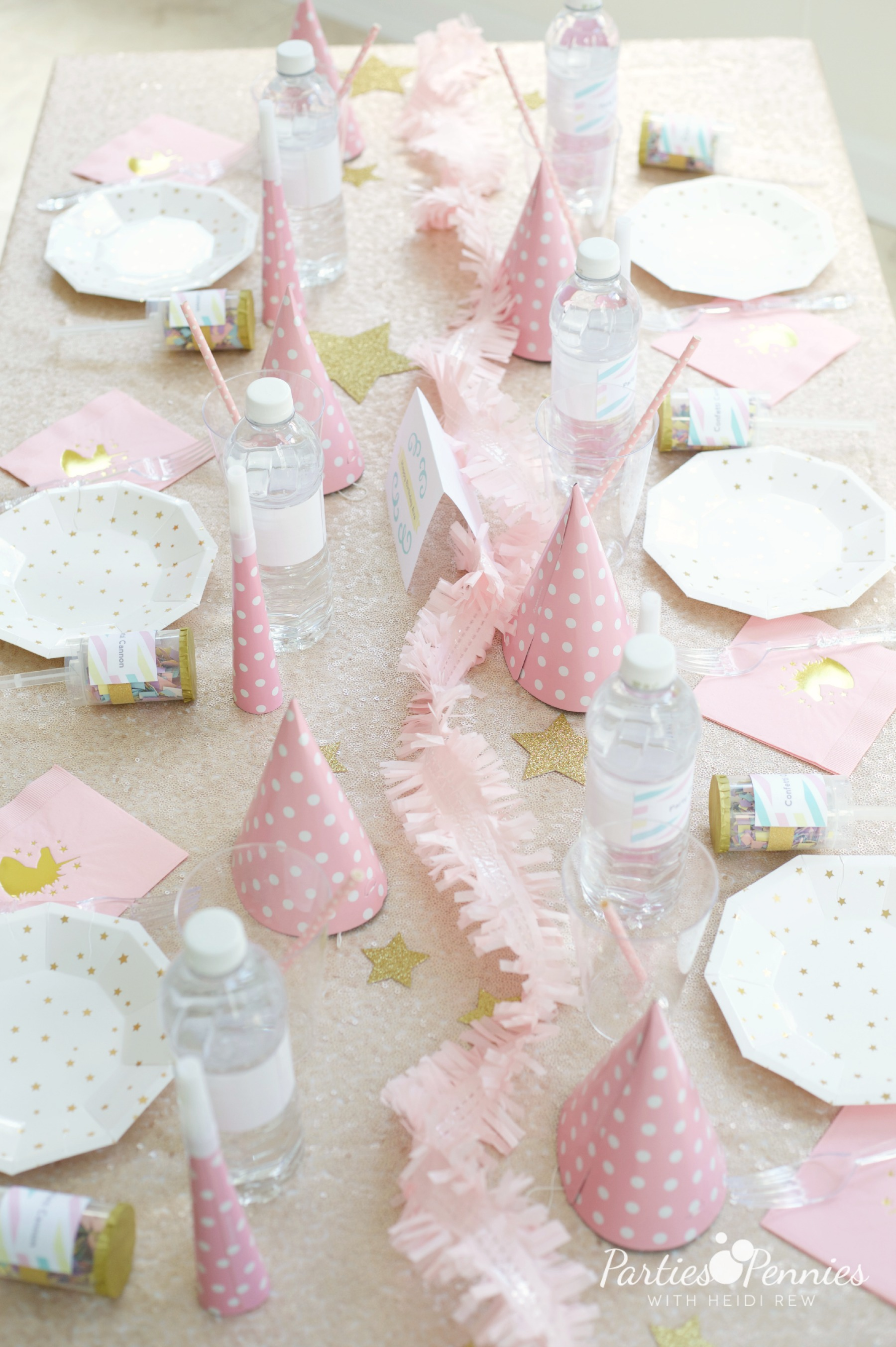 PONY PARTY - Tablescape | PartiesforPennies.com | My Little Pony | Pinkie Pie | Girl Birthday Party