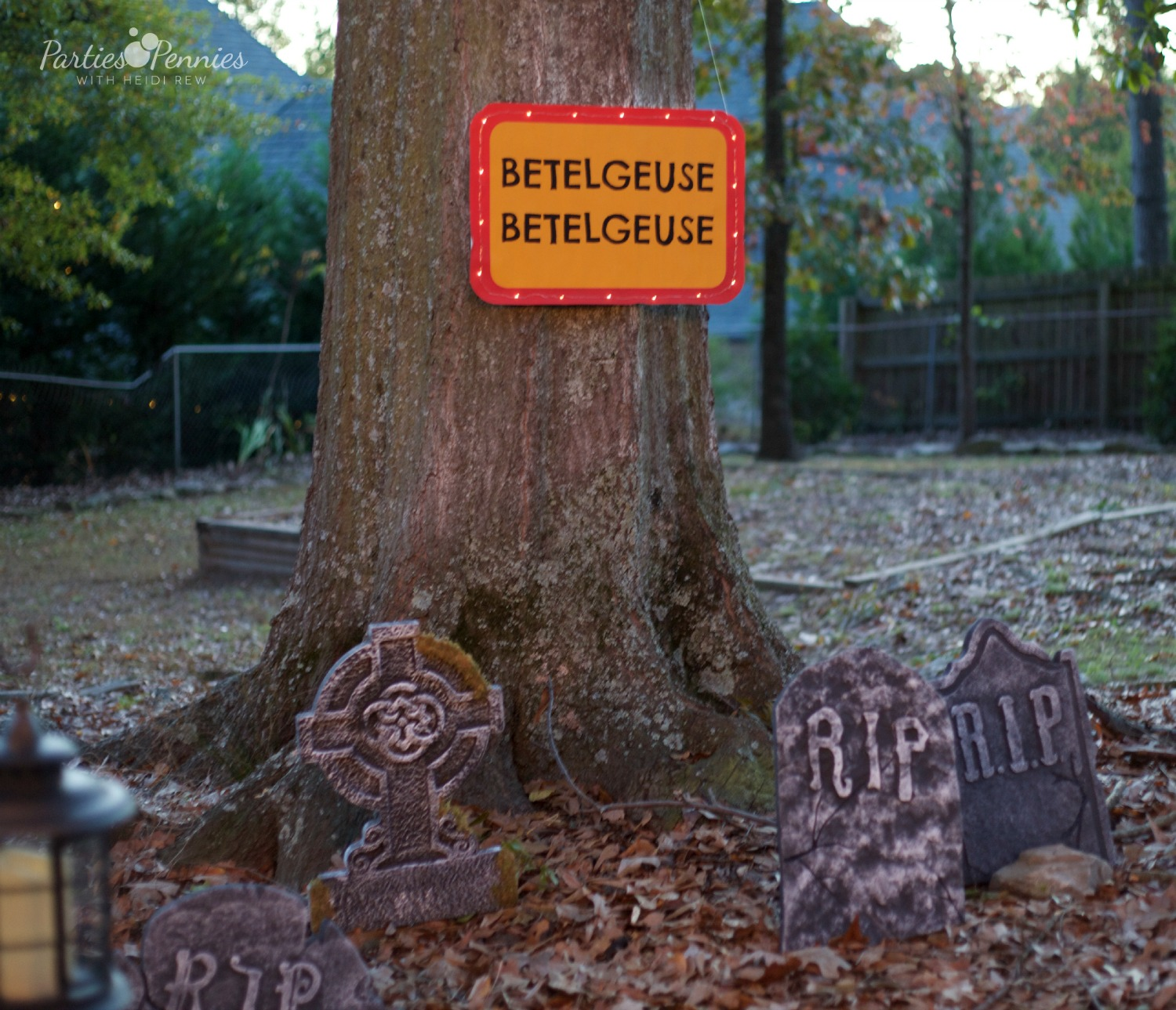 Beetlejuice Halloween Party | PartiesforPennies.com | Betelgeuse Graveyard