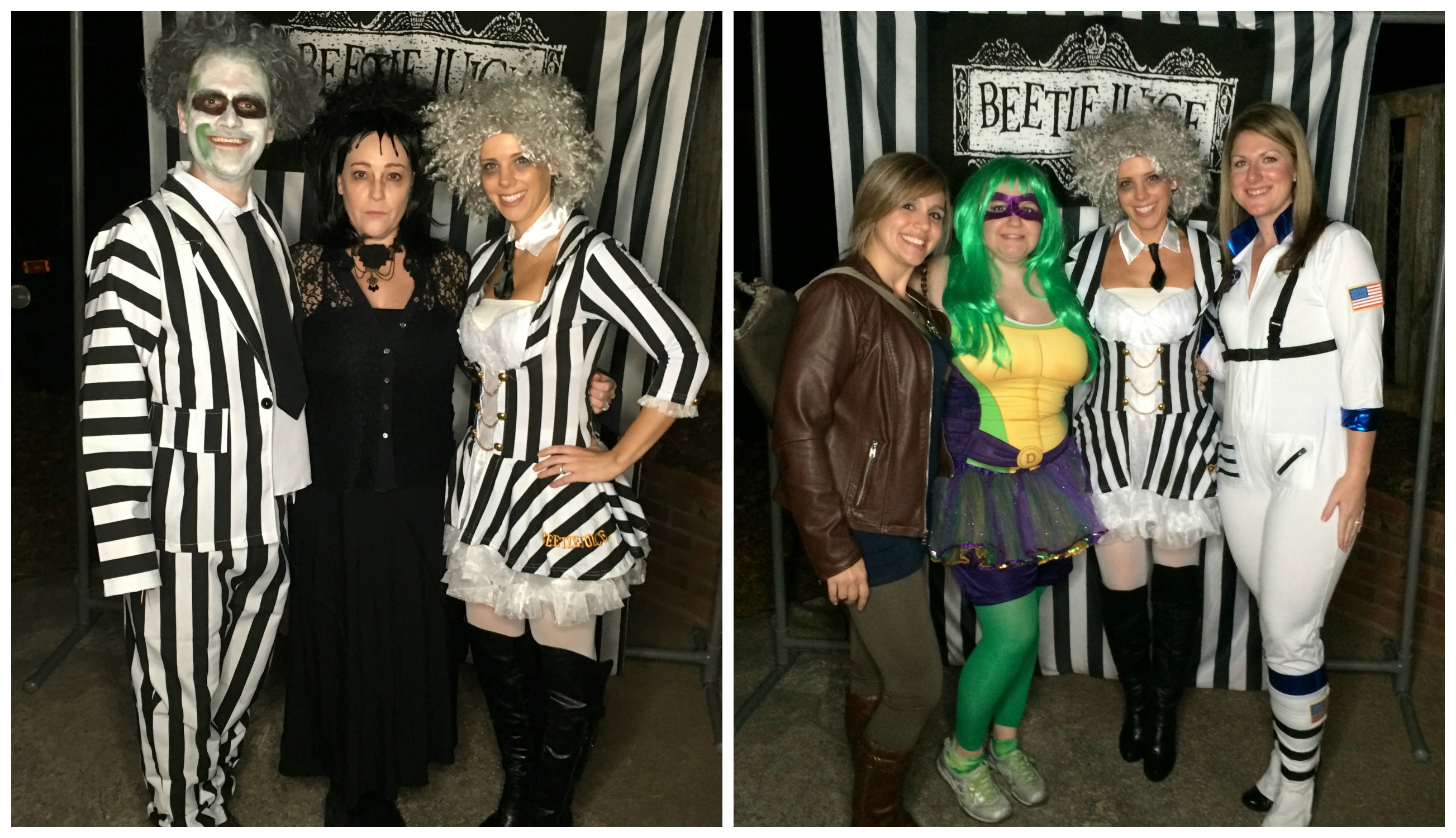 Beetlejuice Halloween Party - Guest Collage 1