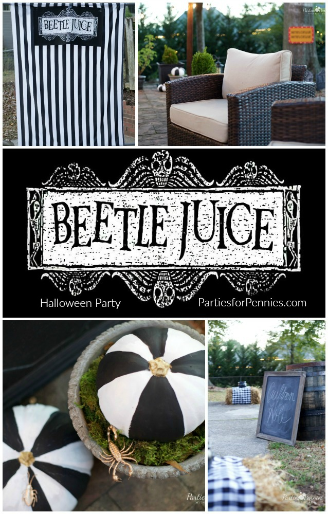 Beetlejuice Halloween Party | PartiesforPennies.com |Halloween Party | Movie Theme