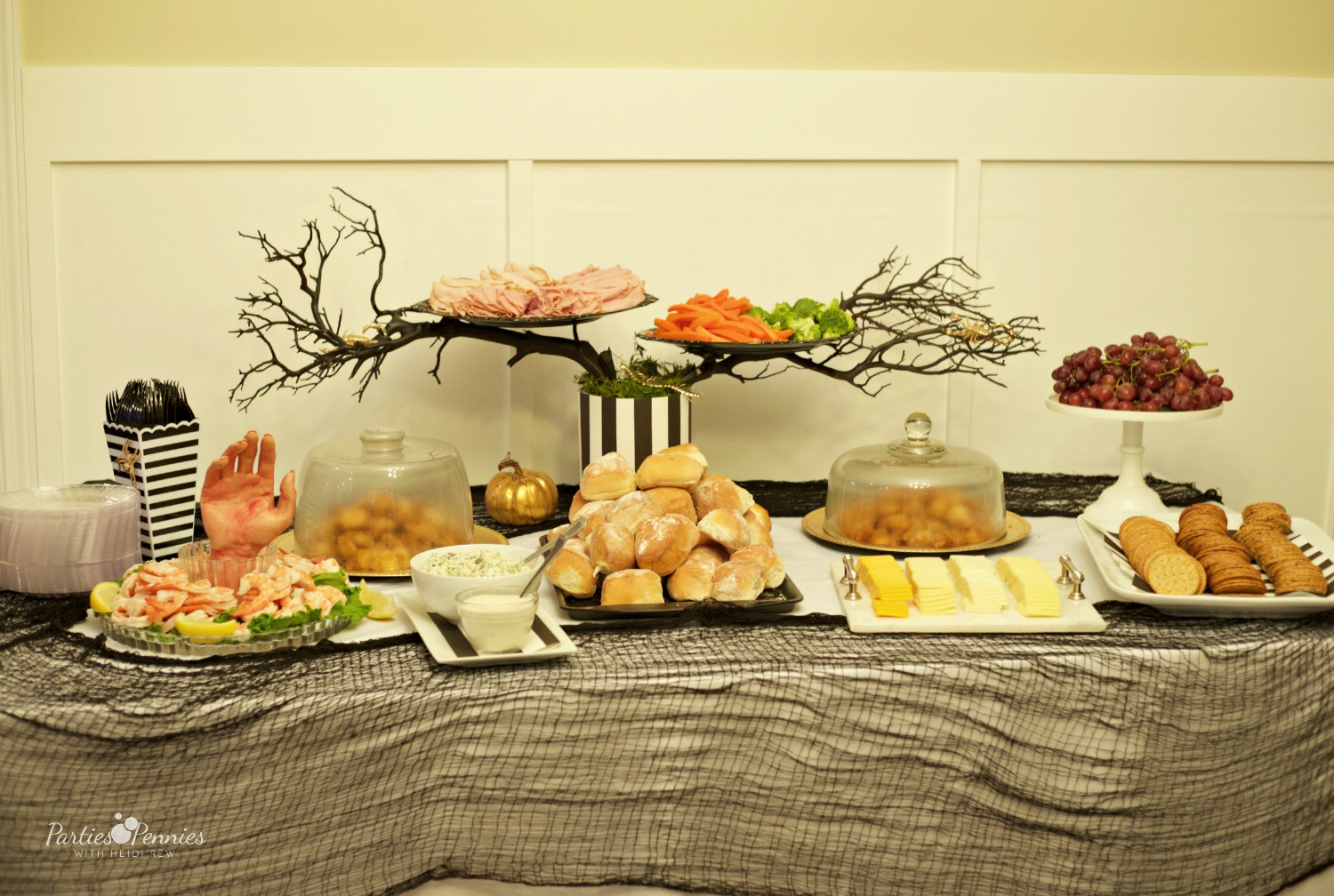 Beetlejuice Halloween Party | PartiesforPennies.com | Savory Table