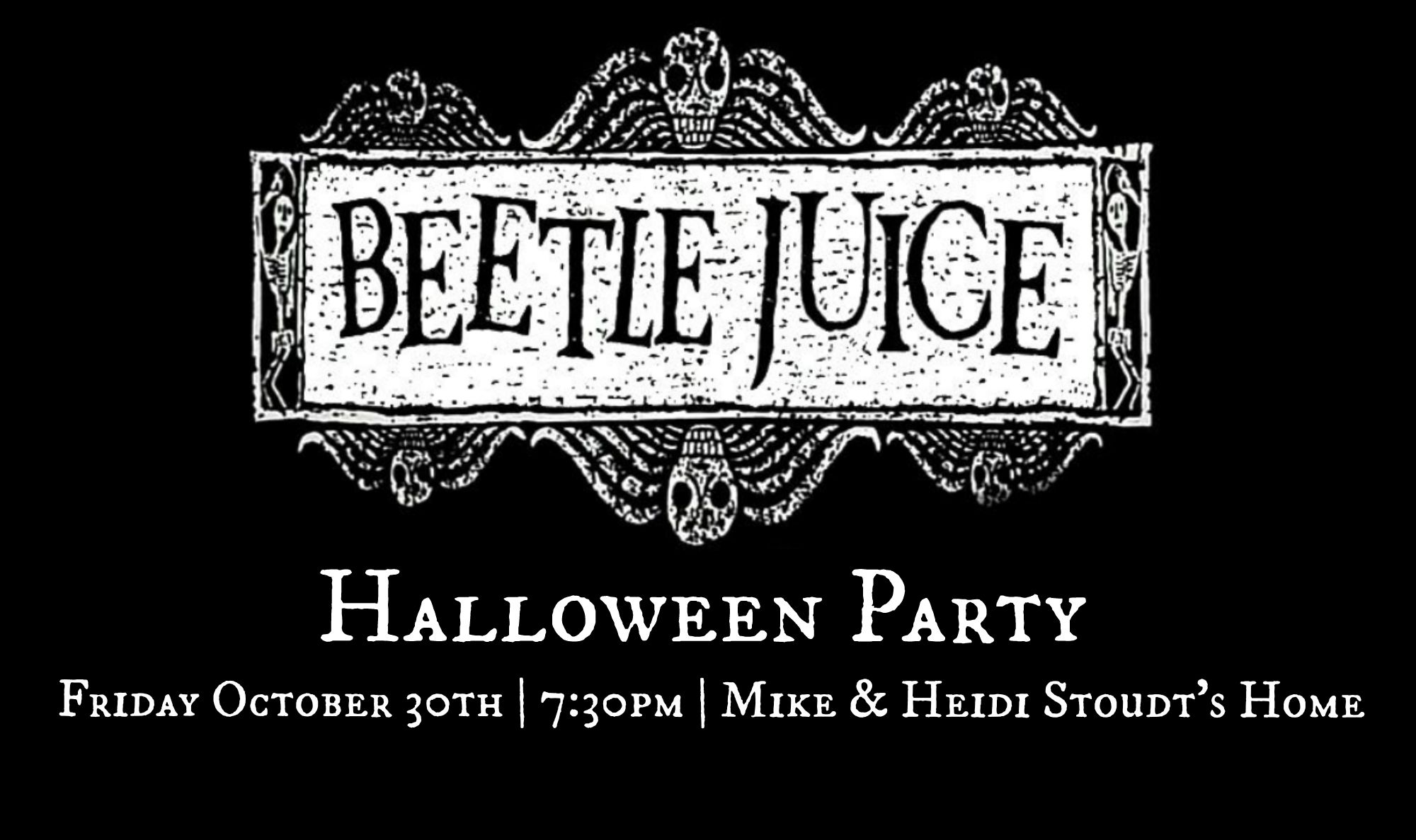 Beetlejuice Halloween Party | PartiesforPennies.com | Invitation Flyer
