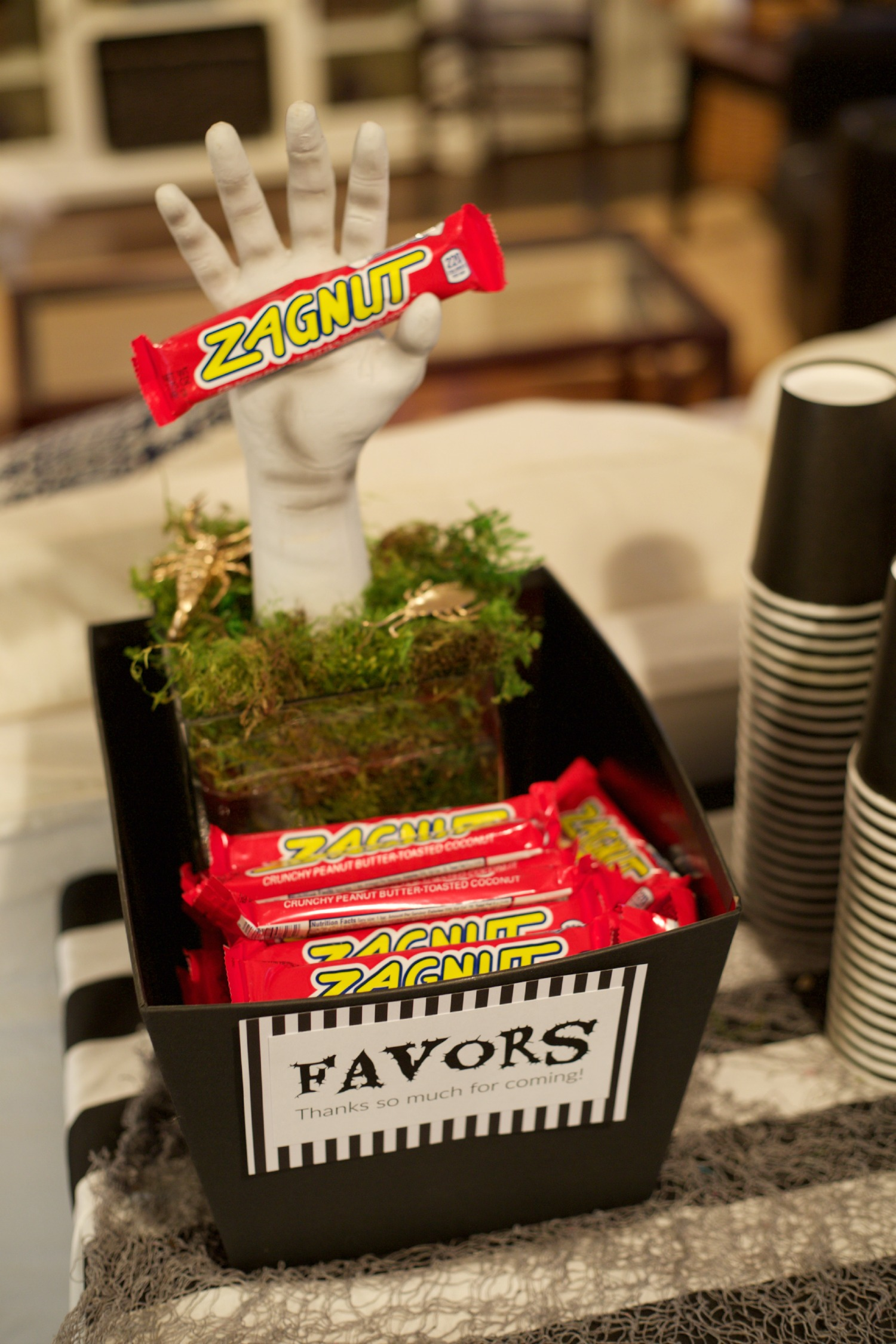 Beetlejuice Halloween Party | PartiesforPennies.com | Zagnut Favors