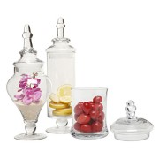 Designer-Clear-Glass-Apothecary-Jars-3-Piece-Set-Decorative-Weddings-Candy-Buffet-MyGift-0-0