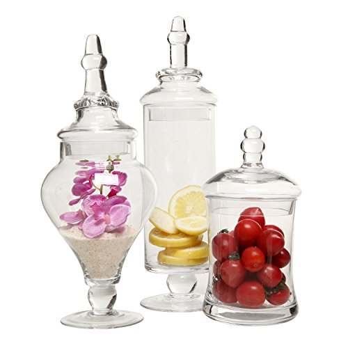 Designer-Clear-Glass-Apothecary-Jars-3-Piece-Set-Decorative-Weddings-Candy-Buffet-MyGift-0