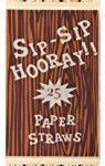 Party-Partners-Design-25-Count-Retro-Wood-Grain-Paper-Straws-0