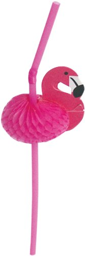 Party-Partners-Design-Pink-Flamingo-Decorative-Cocktail-Drinking-Straws-Pink-12-Count-0