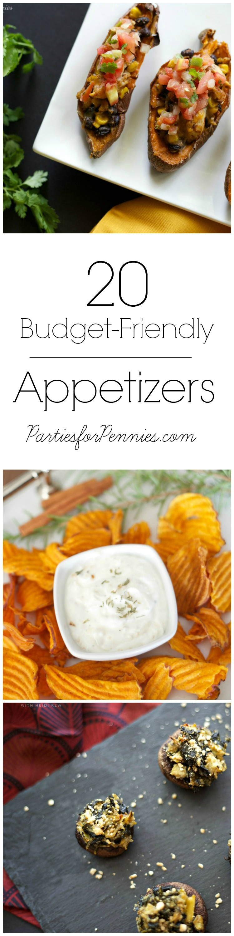20 Budget-Friendly Appetizers by PartiesforPennies.com