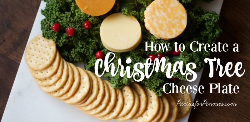 Christmas Tree Cheese Plate by PartiesforPennies.com | Appetizer, Christmas Tree, Entertaining