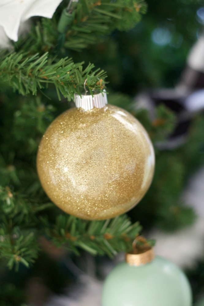 Glitter Ornaments DIY by PartiesforPennies.com