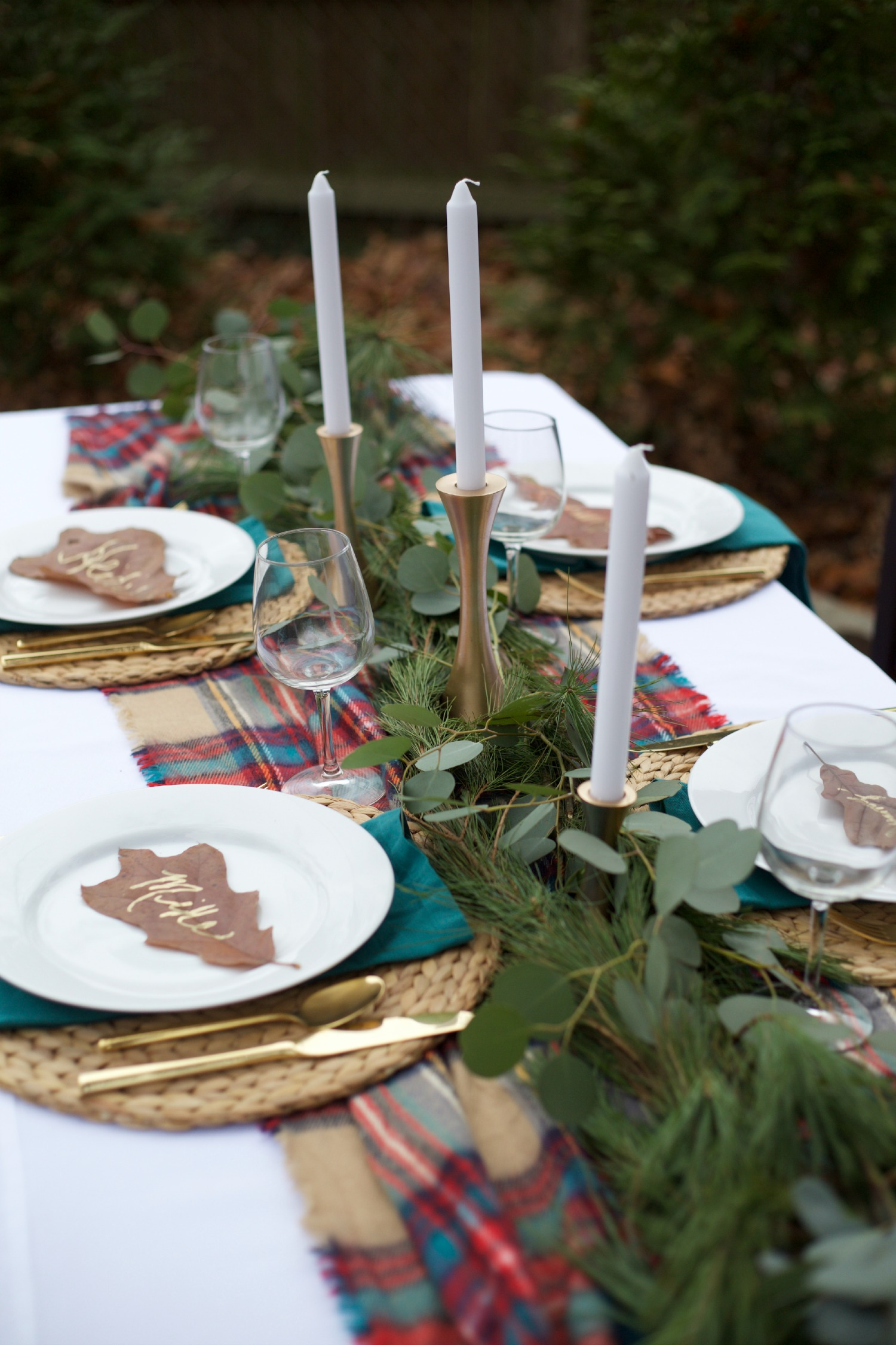 Holiday or Christmas Tablescape How To Video