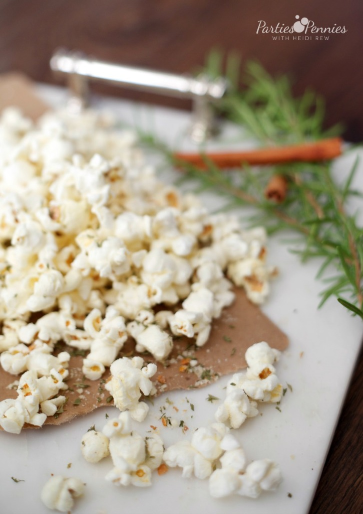 Homemade Popcorn Appetizer by PartiesforPennies.com | 20 Budget-Friendly Appetizer Recipes