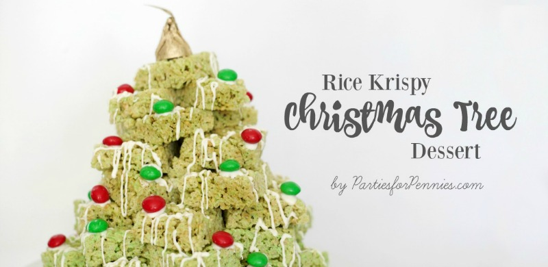 Rice Krispy Christmas Tree by PartiesforPennies.com | Dessert | Recipe