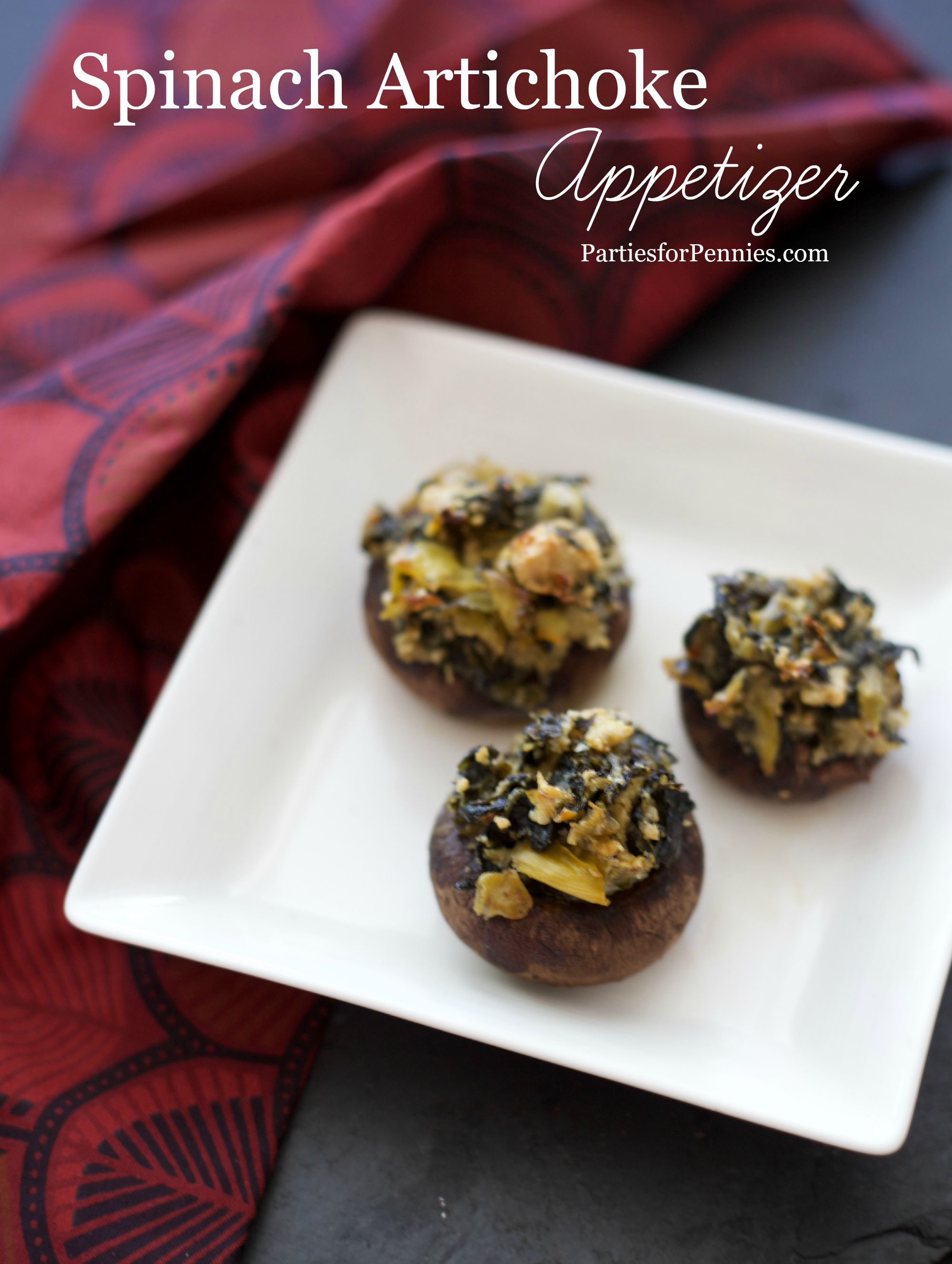 Spinach Artichoke Appetizer by PartiesforPennies.com | 20 Budget-Friendly Appetizers