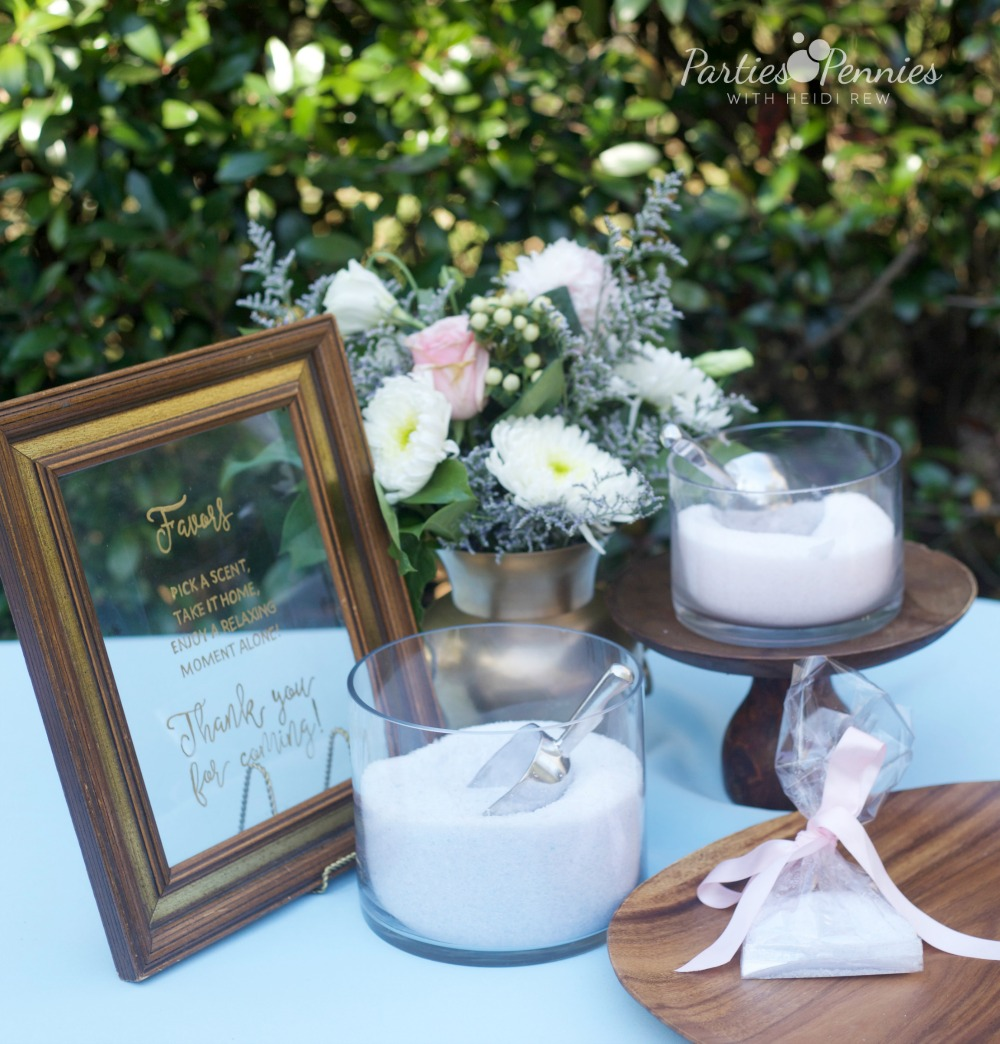 How to Plan a Wedding for under $5,000 | PartiesforPennies.com | Bath Salt Favors, Budget-Friendly Favors, Wedding Favors Under $1, DIY Bath Salts