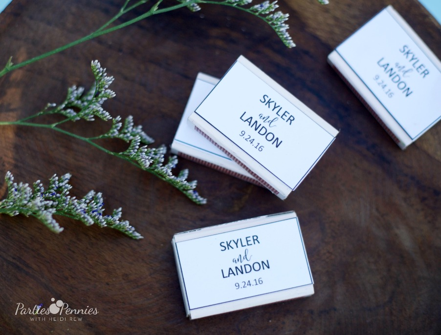 How to Plan a Wedding for under $5,000 | PartiesforPennies.com | DIY Matchbox Favors, Matchbox Favor Personalized Printable, Budget Friendly Favor, Cheap Favor, Favor for Less than A Dollar