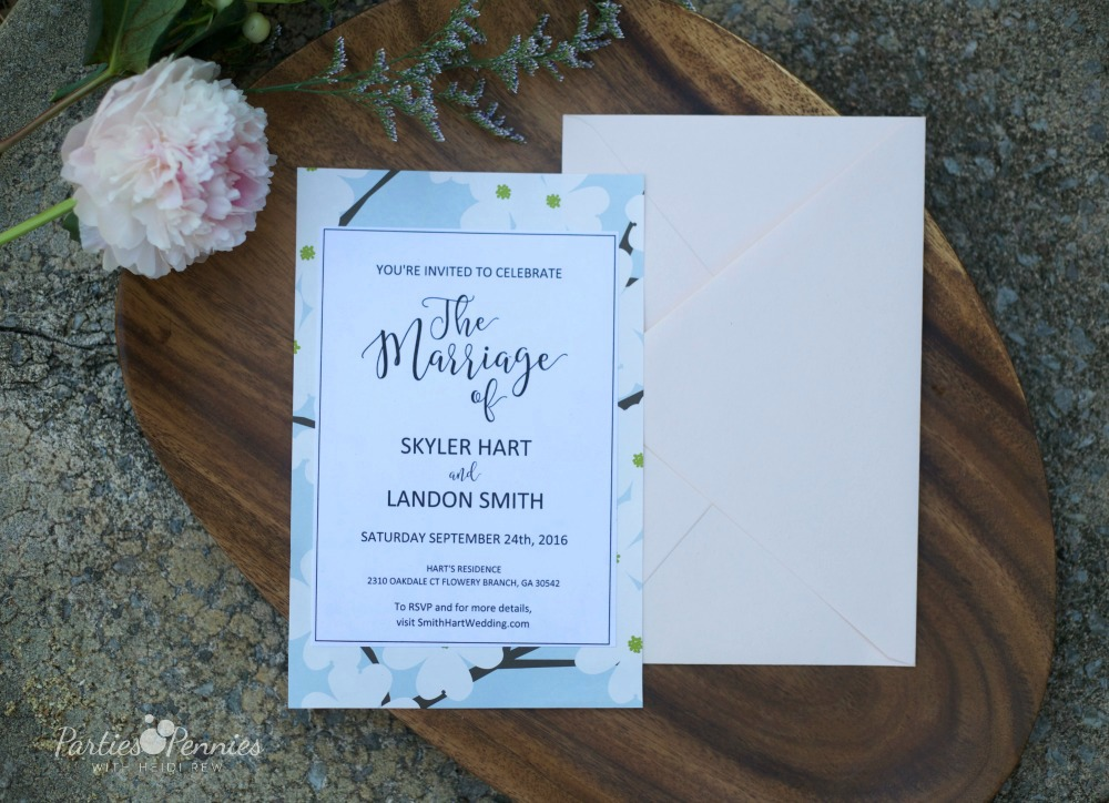 How to Plan a Wedding for under $5,000 | PartiesforPennies.com | Printable Wedding Invitation, DIY Wedding Invitation