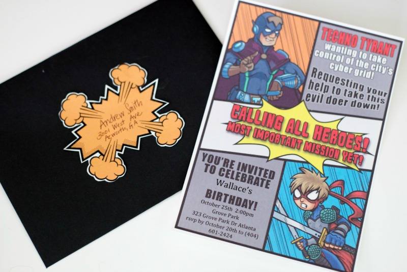 Super Hero Party - Invitation