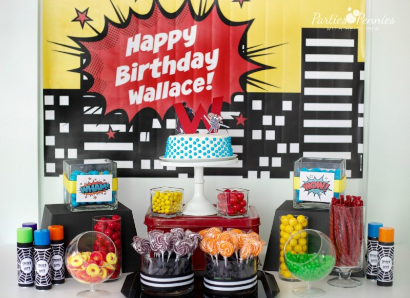 Super Hero Party by PartiesforPennies.com | Printables, Super Hero, SpiderMan, Birthday Party, Boy Birthday Party,