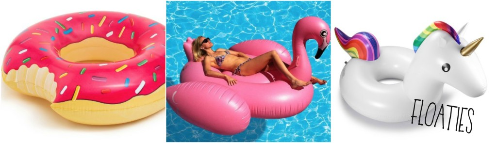 2016 Summer Must Have Entertaining Accessories by PartiesforPennies.com   Floaties, Doughnut Float, Flamingo Float, Unicorn Float